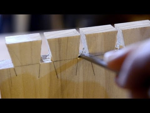 Hand Cut Dovetails Part 9: Clean the Tails