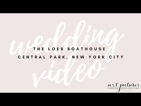 The Loeb Boathouse Central Park Wedding Video - Jillian & John - NYC wedding videographer