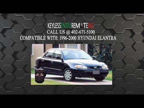 How To Replace Hyundai Elantra Key Fob Battery 1996 1997 1998 1999 2000