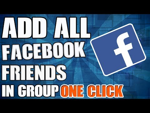How To Auto Add All Facebook Friends In Group | One Click | 100% Working