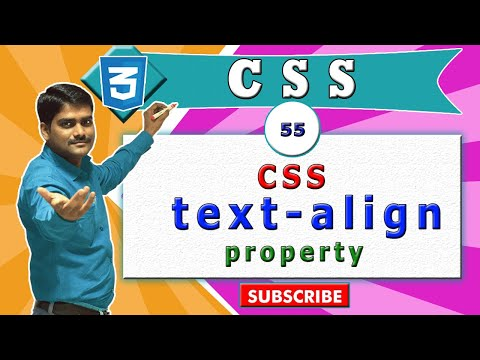 CSS video tutorial - 55 - CSS text align property vs HTML heading, p tag