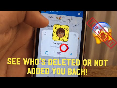 Snapchat how to see who's deleted you or not added you back!