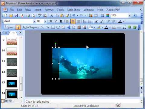 How to fade the edges of an image in PowerPoint 2003