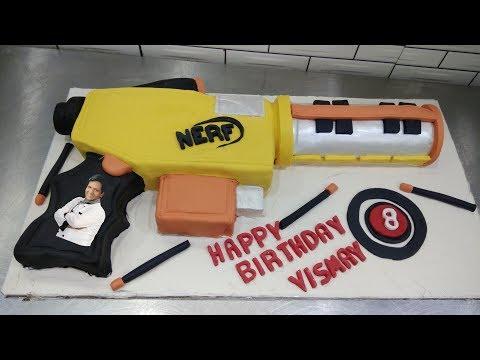 How To Make (Chocolate)Nerf Gun Cake