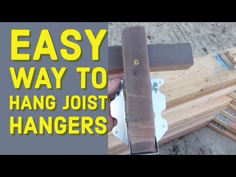 Easy way to Put On Joist Hangers Fast DIY
