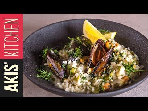 Lemon rice with Mussels (Midopilafo) | Akis Kitchen