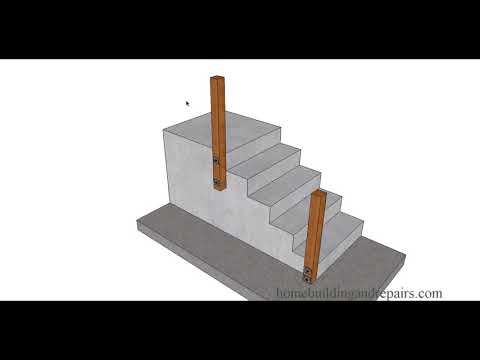 Bolting Wood Handrail Post To Concrete Stairs Can Make Handrail Stronger