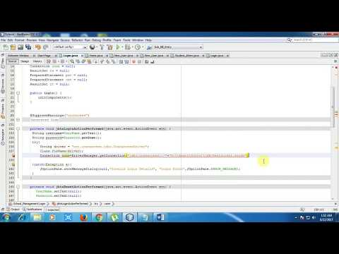 How to Create MS Access Database Login in java Netbeanns with source code