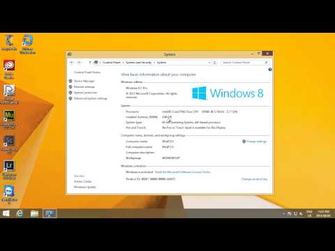 Windows 8.1 - Find out How Much Memory RAM is Installed on Your Computer