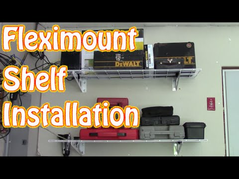 DIY Fleximount 2-Pack 1x4ft 12-inch-by-48-inch Wall Shelf Installation and Review ~ Garage Storage