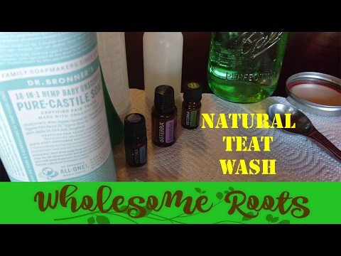 Homemade Natural Teat and Udder Wash