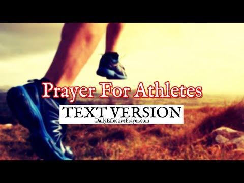 Prayer For Athletes (Text Version - No Sound)