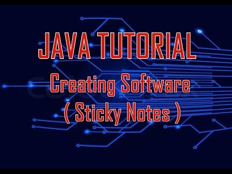 Java Netbeans : Create Sticky Notes desktop application Software