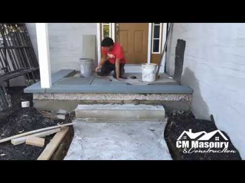 stone veneer and bluestone installation