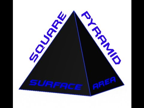 Finding The Surface Area of A Square Pyramid: The Easy Way!!
