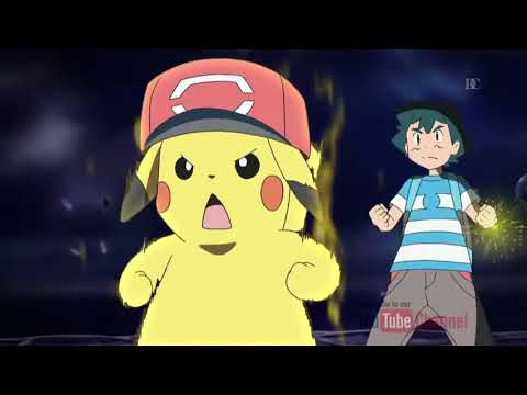 Ash and Pikachu Z move 10,000,00 VOLT THUNDERBOLT