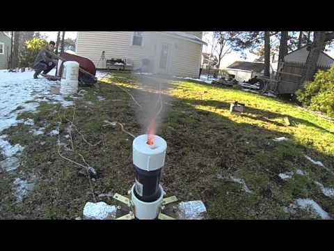 Amateur Rocket Engine Explosion