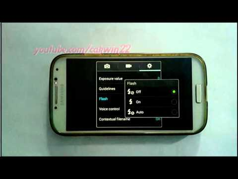 Samsung Galaxy S4 : How to turn on or turn off flash camera