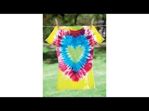 Tie-Dye 101: Heart Design T-Shirt