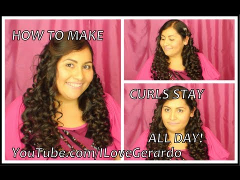 Making curls stay for hours!