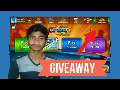 [2nd GIVEAWAY] - 8 Ball Pool Account with 15 Million Coin ... Result ON 1st June // MUST WATCH ..