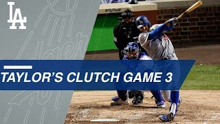 Chris Taylor drives in two with homer, triple