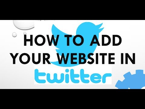 How to add your website url in twitter account