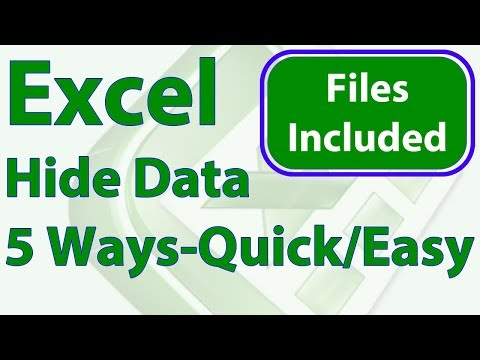 5 Easy Ways to Quickly Hide Data in Excel
