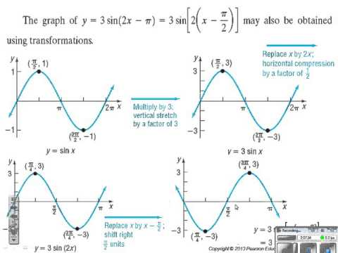 Section 6 6 Period, Amplitude and phase shift for sinusoidal functions