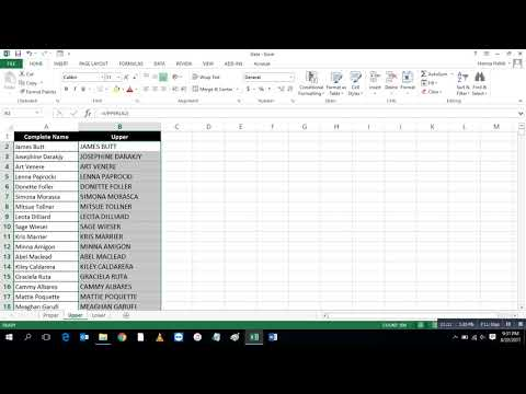 Capitalize First Letter of a Word or apply lower case or UPPER CASE to a Text String in MS Excel