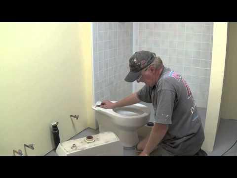 DIY Basement Bathroom Part 10 - Installing Toilet