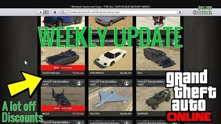 GTA 5 Online | Weekly Discounts and No Second Hand Cars released