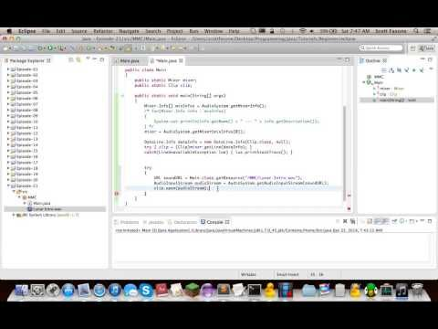 Java Tutorials: Episode 21 - Java Sound API - Clips
