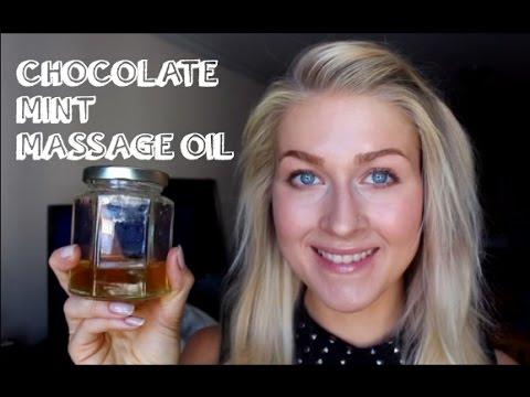 DIY Mint Chocolate Massage Oil