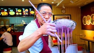 Download Chinese Street Food - PURPLE NOODLES | CRAZY Street Food in Chongqing - BEST Street Food in China Video