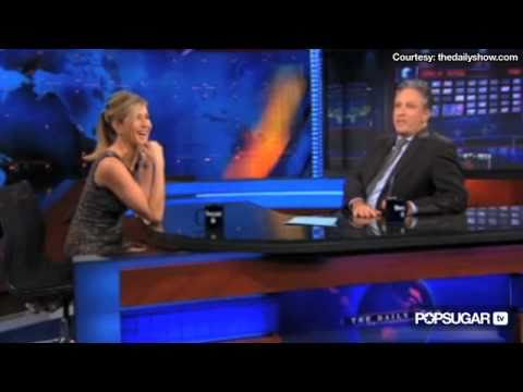 Jennifer Aniston on The Daily Show Talking About Their Awkward Date!