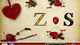 💖 Z Letter & S Letter love whatsapp status best animated