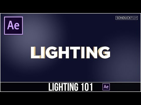 After Effects Tutorial: Lighting Basics 101 & How to use Lights