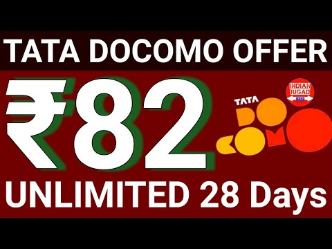 Jio 98 Effect : After AIRTEL 93 TATA DOCOMO comes  with ₹82 UNLIMITED Plan