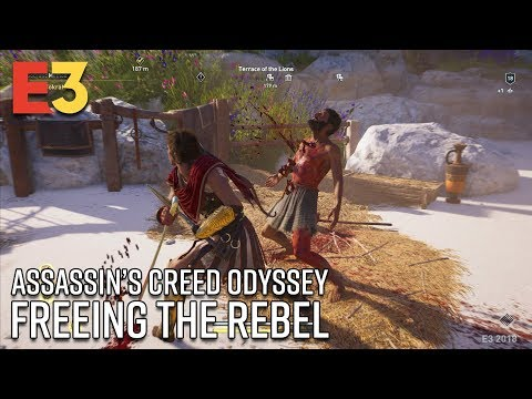 Assassin's Creed Odyssey Gameplay - Freeing the Rebel | E3 2018