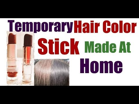 Hair Color Stick Made At Home | Hair Color GRAY/WHITE HAIR Roots Temporarily without DYE