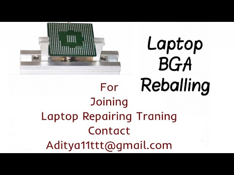 How to replace and reball BGA Chip in a laptop motherboard by #satishBhai & #aditya11ttt