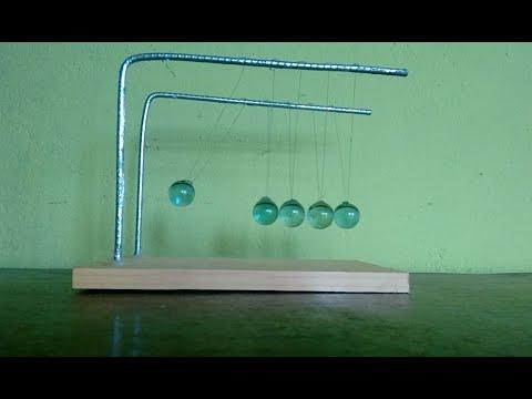 como fazer DIY - Pêndulo de Newton