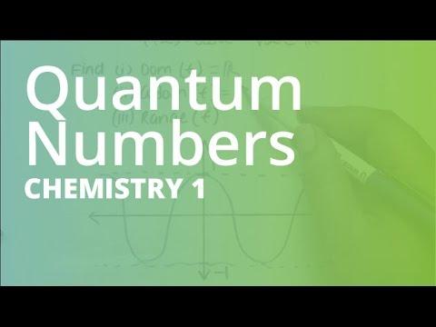 Quantum Numbers   Chemistry (CHEM101)