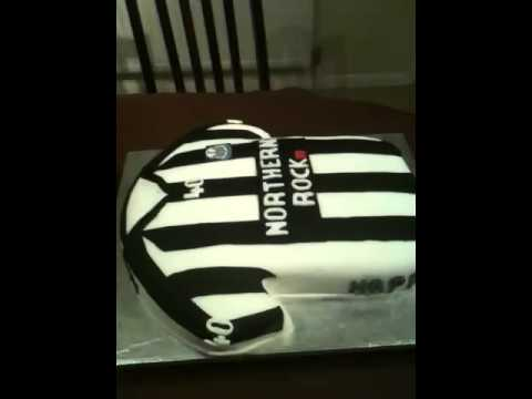 Newcastle united football shirt cake