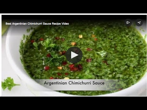 Chimichurri Sauce Recipe Video