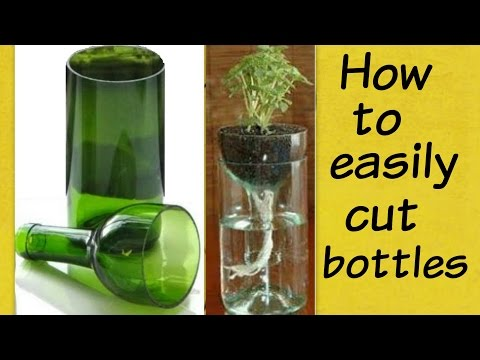 How to cut glass bottle easily at home   Bottle cutting tutorial