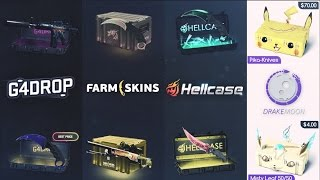 Testing EVERY CASE SITE (G4DROP, DRAKEMOON, HELLCASE, FARMSKINS)