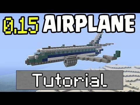 Minecraft Pocket Edition 0.15 - WORKING AIRPLANE 0.15 Update NO MODS - Minecraft PE (Pocket Edition)
