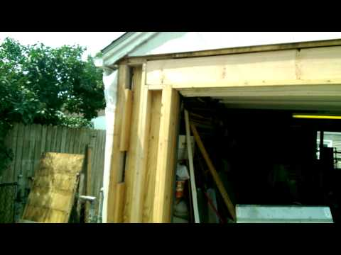Garage Overhead Door Framing Rebuild